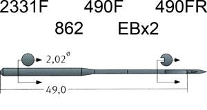 2331F Groz Beckert Needles