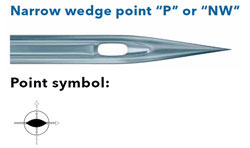 Schmetz 134P Wedge Point